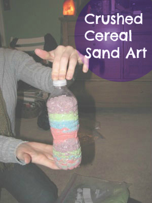 &quot;Cereal Sand Art&quot; Craft for Kids!